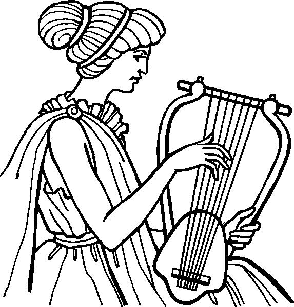 Муза с лирой картинка